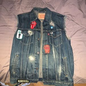 Custom Levi's jean vest